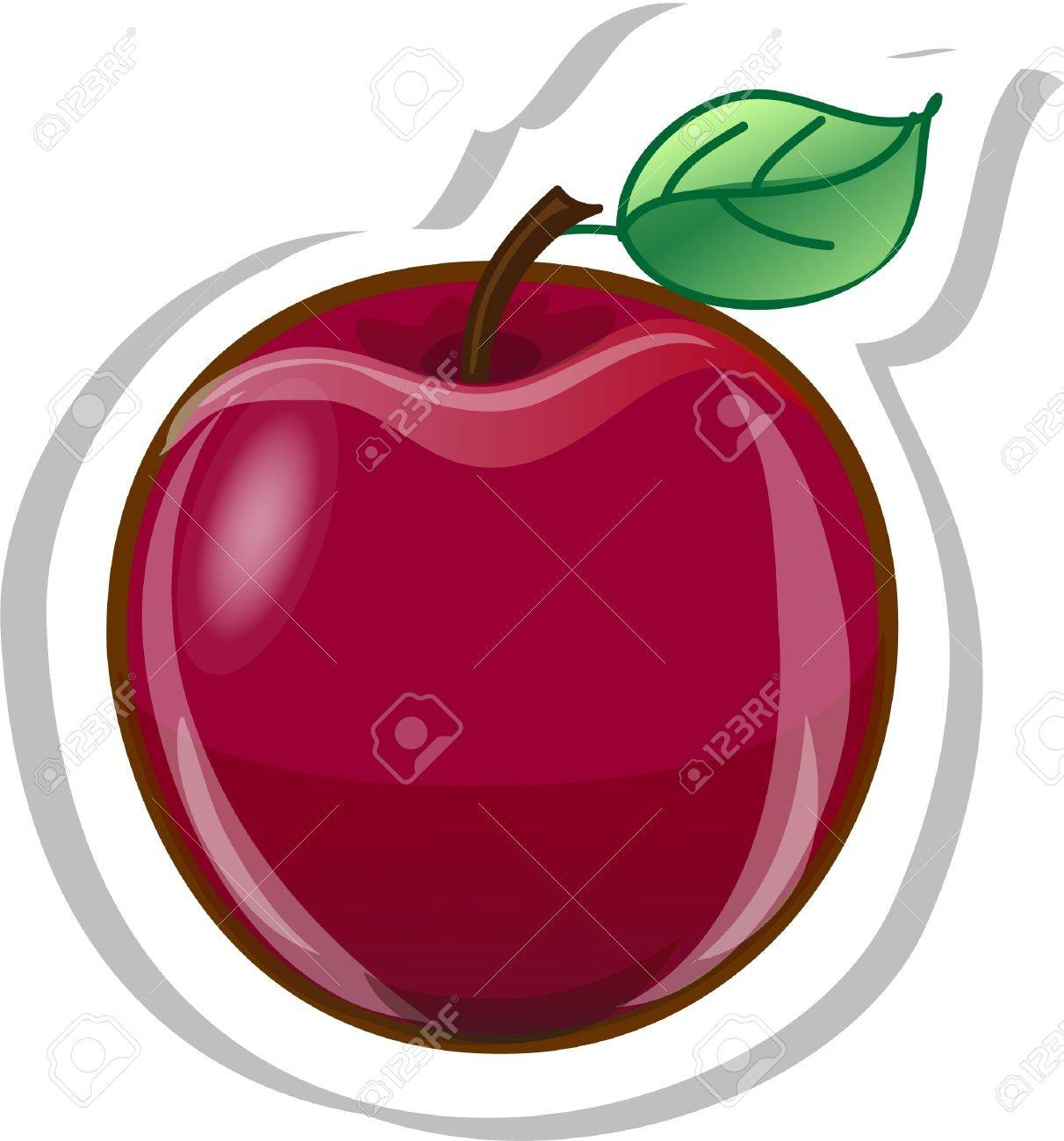 Cartoon apple Stock Vector - 13236308