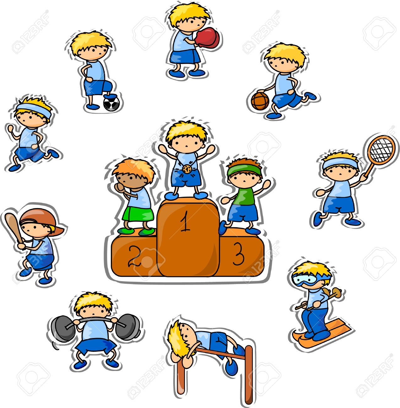 cartoon sport icon Stock Vector - 13484193