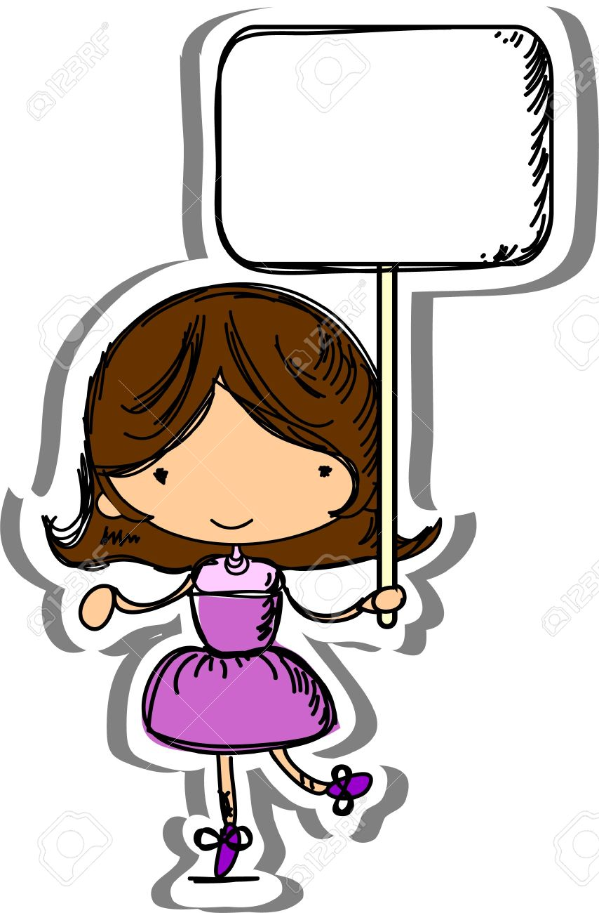 Cute Child Hold Frame Royalty Free Cliparts Vectors And Stock