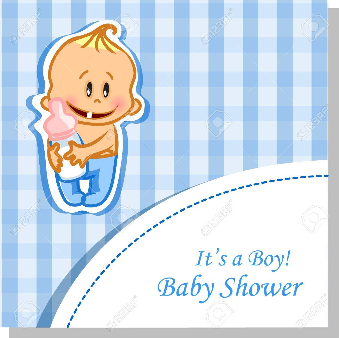 Vector illustration of baby boy, background Stock Vector - 13654320