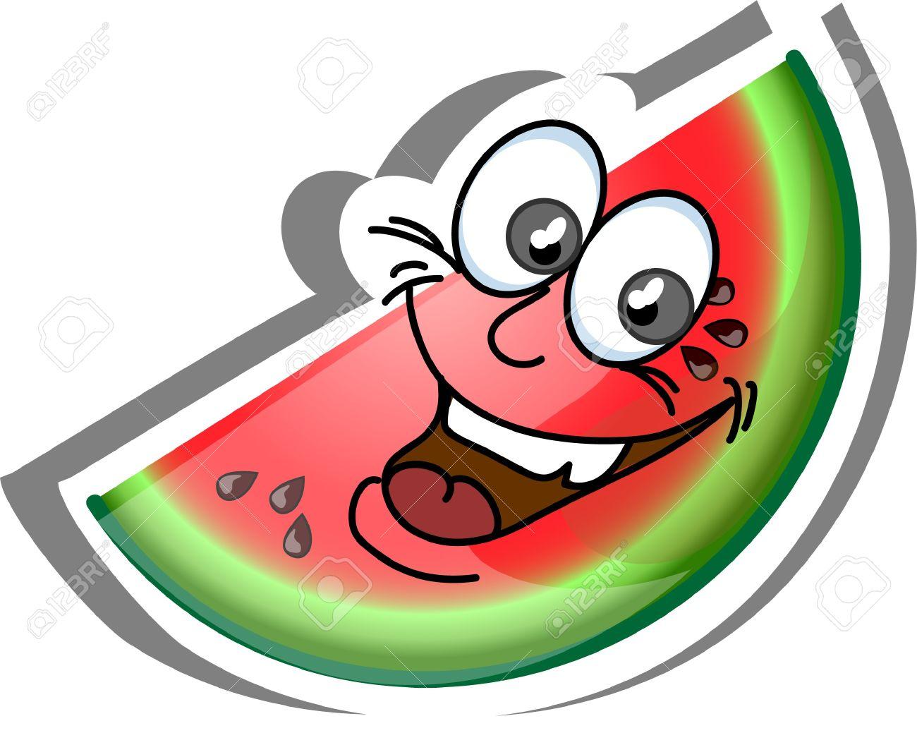 Watermelon Cartoon Images Cartoon watermelon  fruit