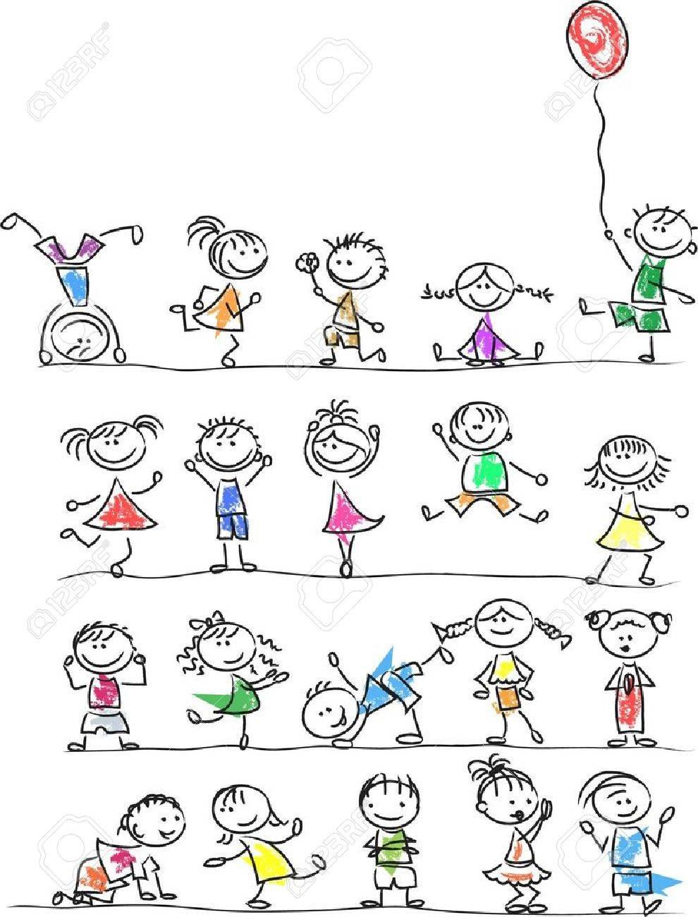 Cute happy cartoon kids - 14501423