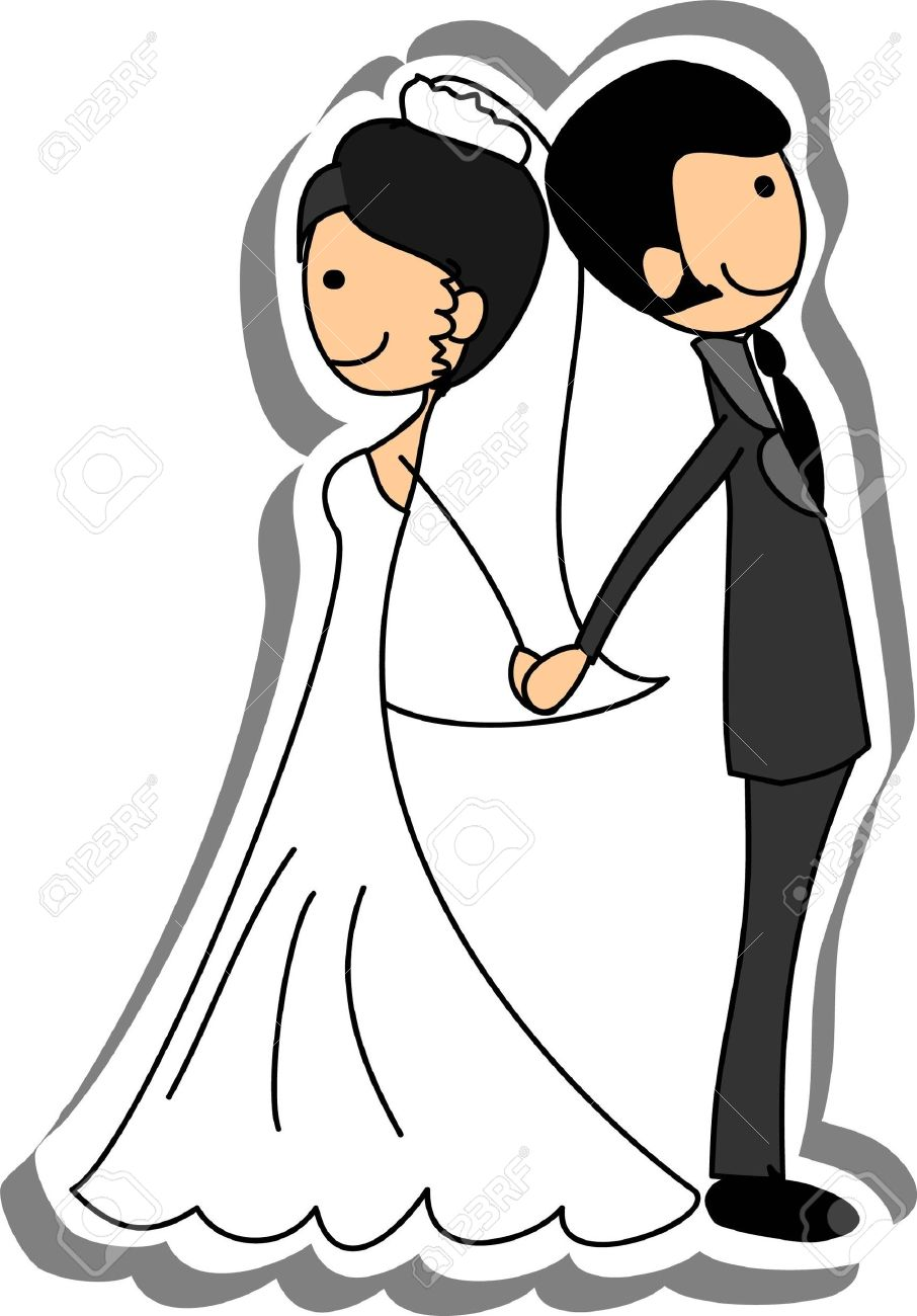 Wedding picture, bride and groom in love - 14742490
