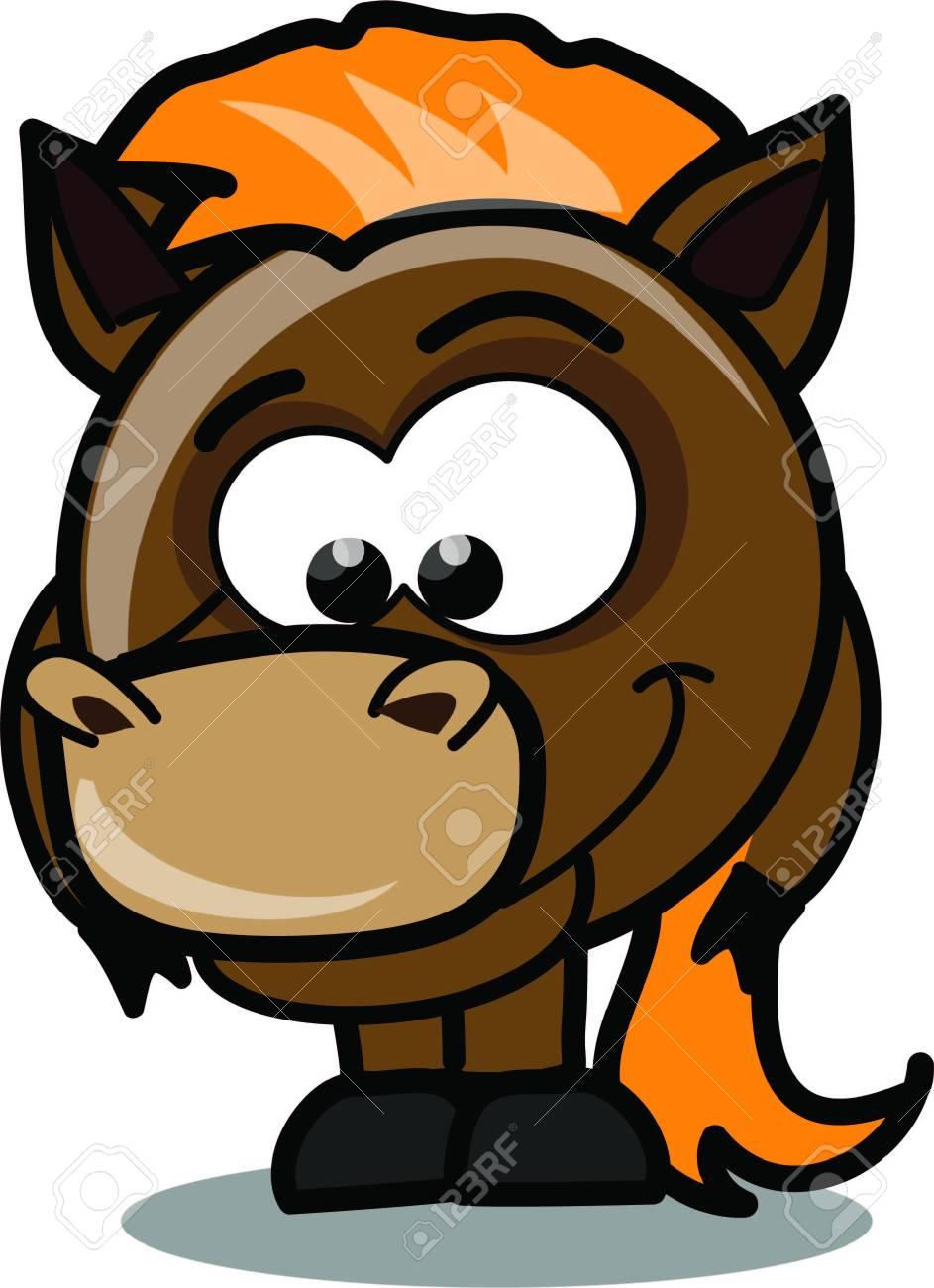 Cartoon horse Stock Vector - 15099393