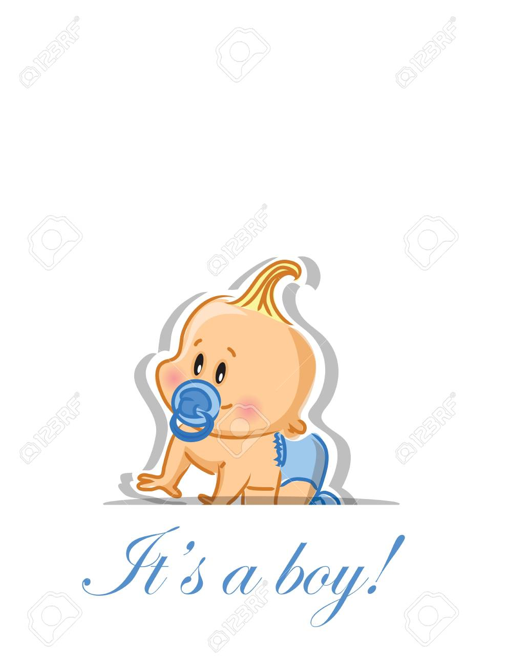 Vector illustration of baby boy Stock Vector - 16408303