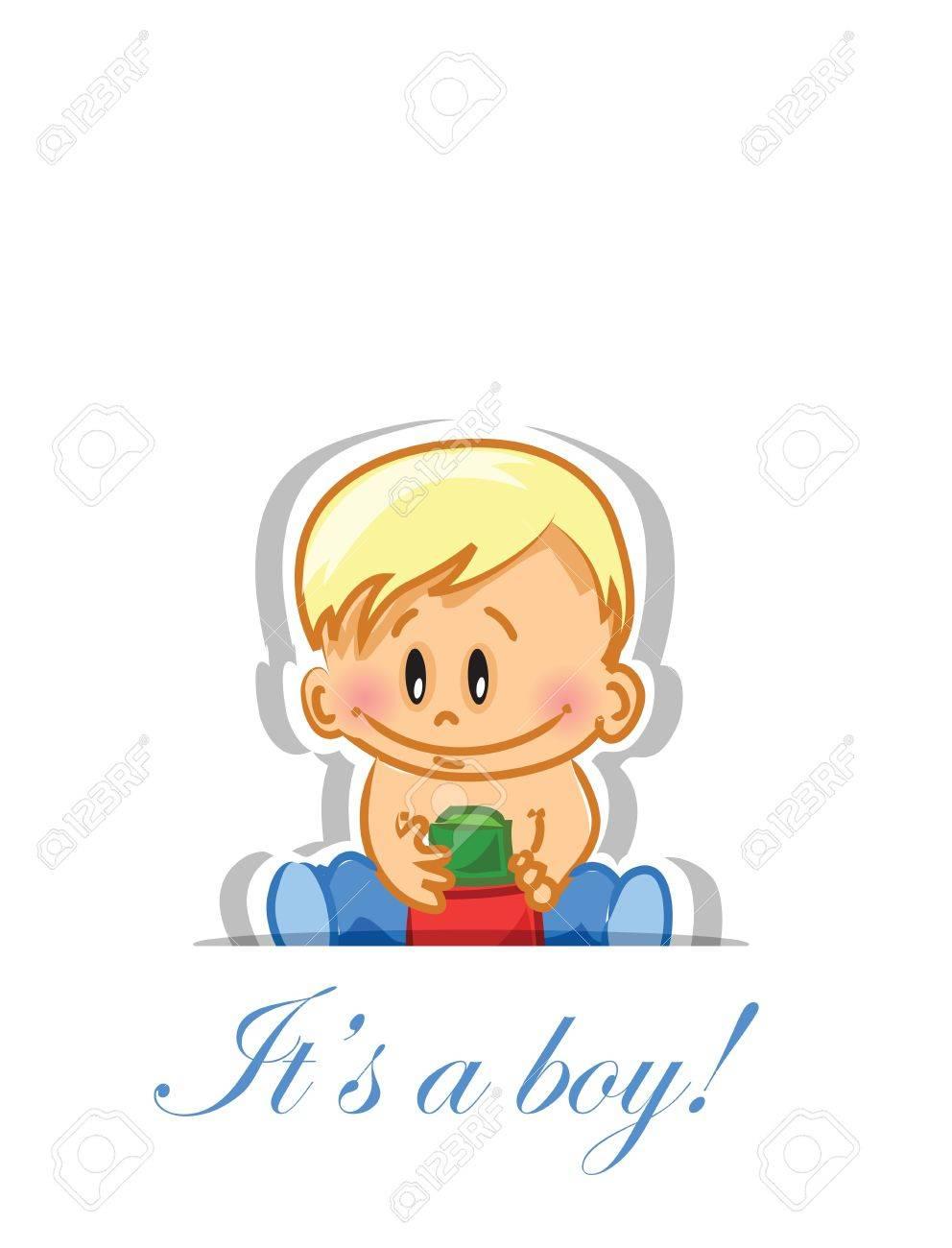 Vector illustration of baby boy Stock Vector - 16408302