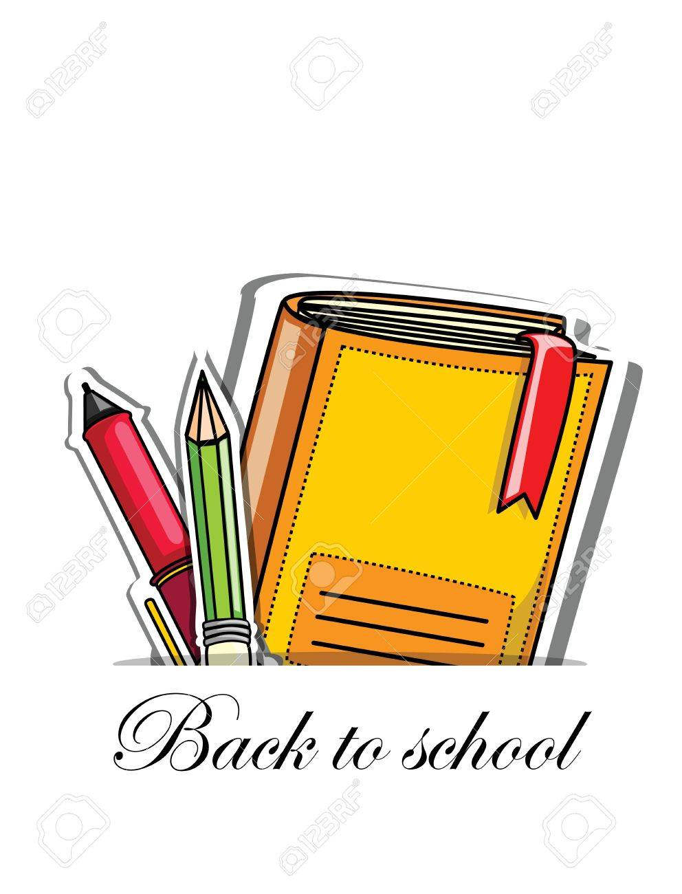 Back to school, vector background for your design Stock Vector - 16814479