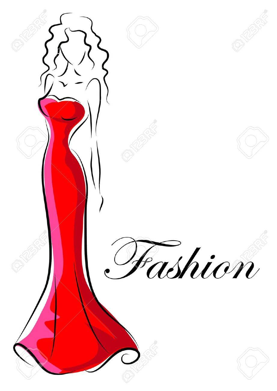 Fashion woman, hand drawing illustration Stock Vector - 16873074