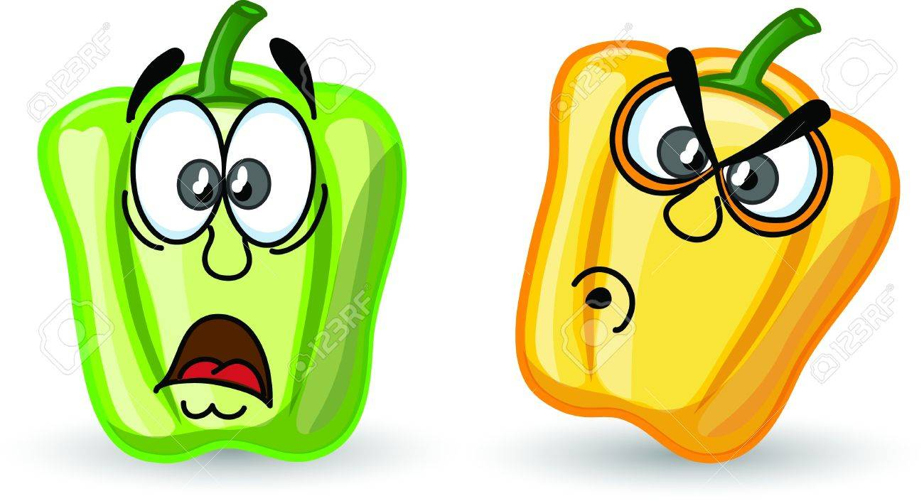 Cartoon cute peppers, background Stock Vector - 16954227