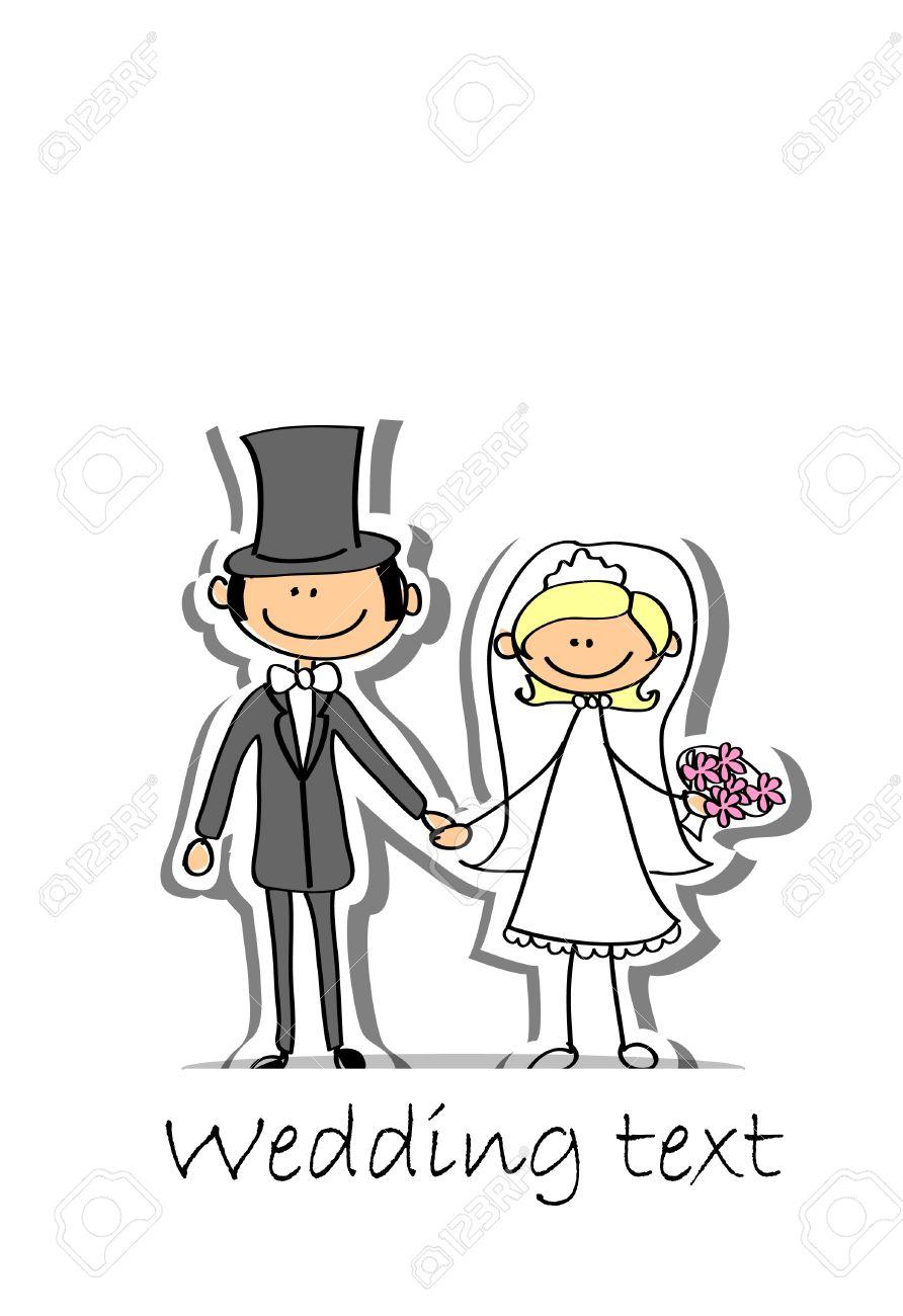 Banque dimages , photo de mariage de dessin animé