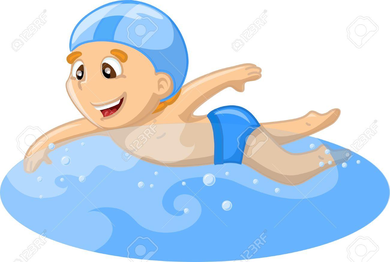 Boy Swimming Clipart B...