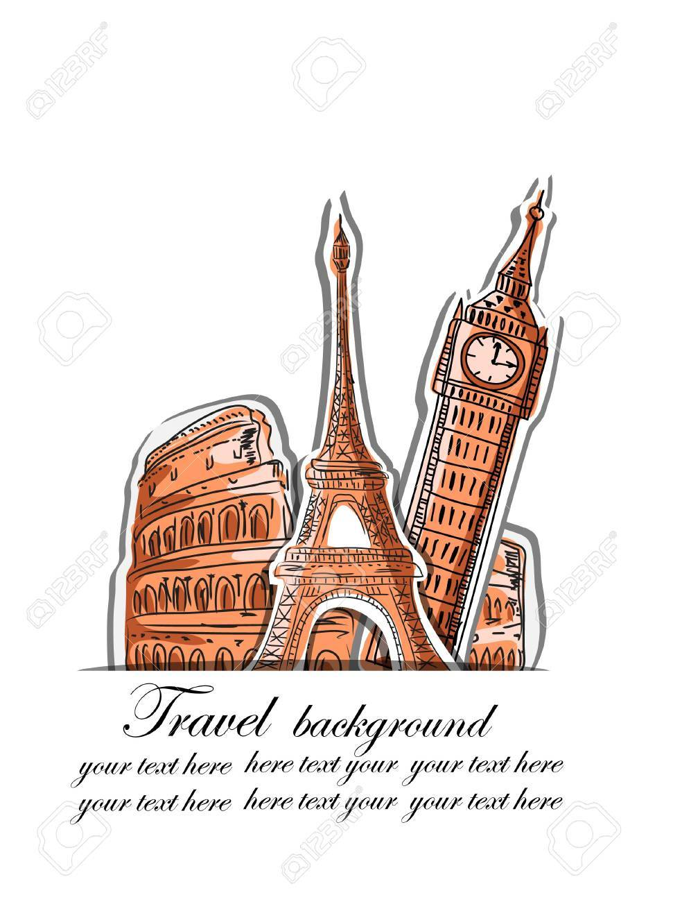 Travel background Stock Vector - 17416332