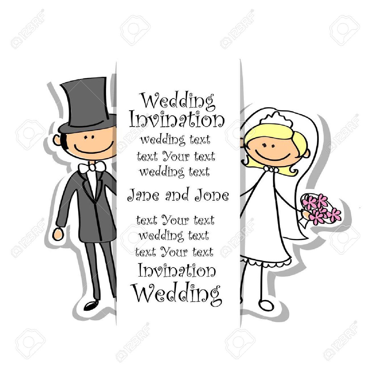 Cartoon wedding picture Stock Vector - 17462897