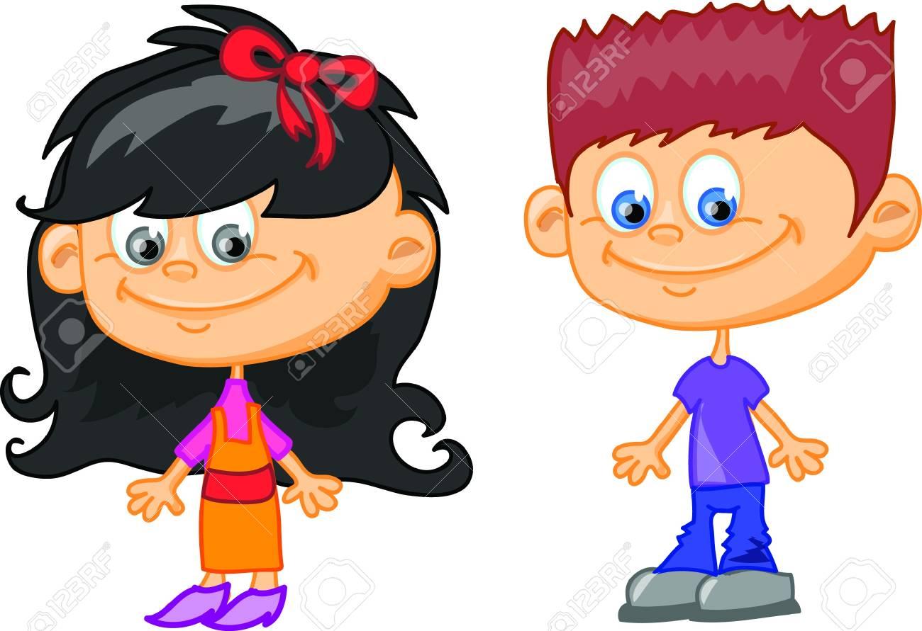 Set of cartoon cute children Stock Vector - 17514745