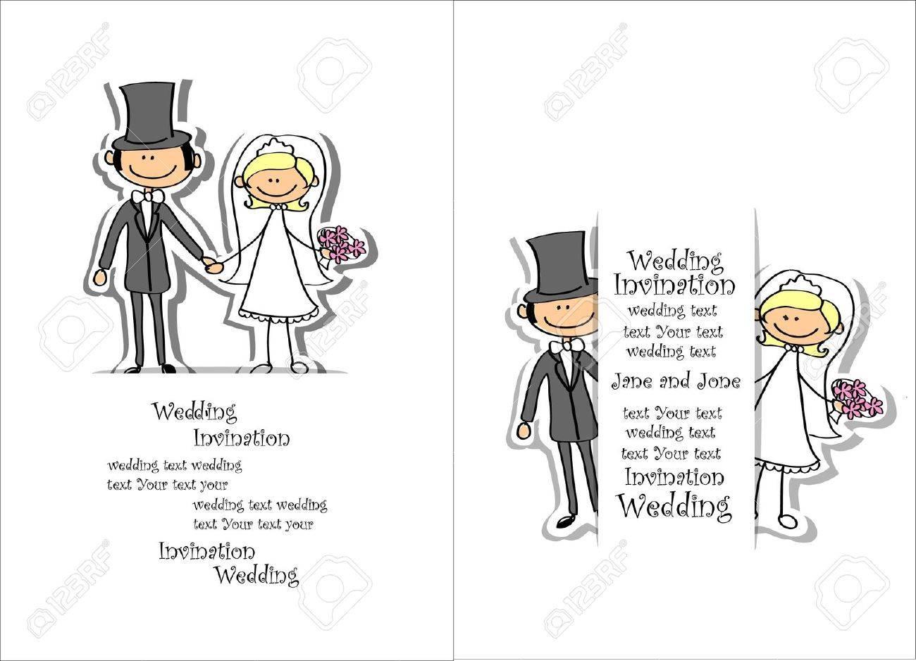 Cartoon wedding picture - 17686308