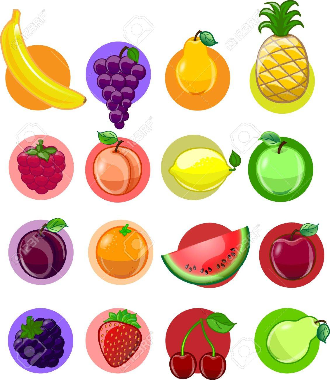Vegetables and fruits, vector background Stock Vector - 17989108