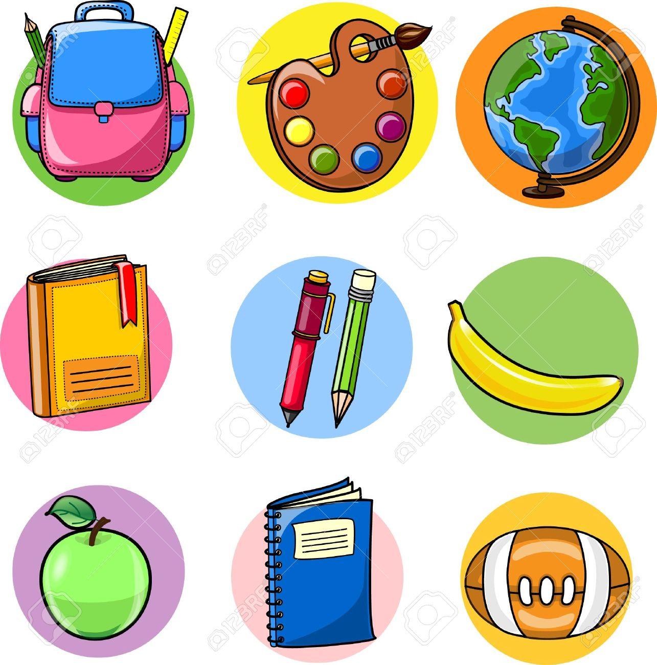 Back To School, School Supplies Royalty Free Cliparts, Vectors ...