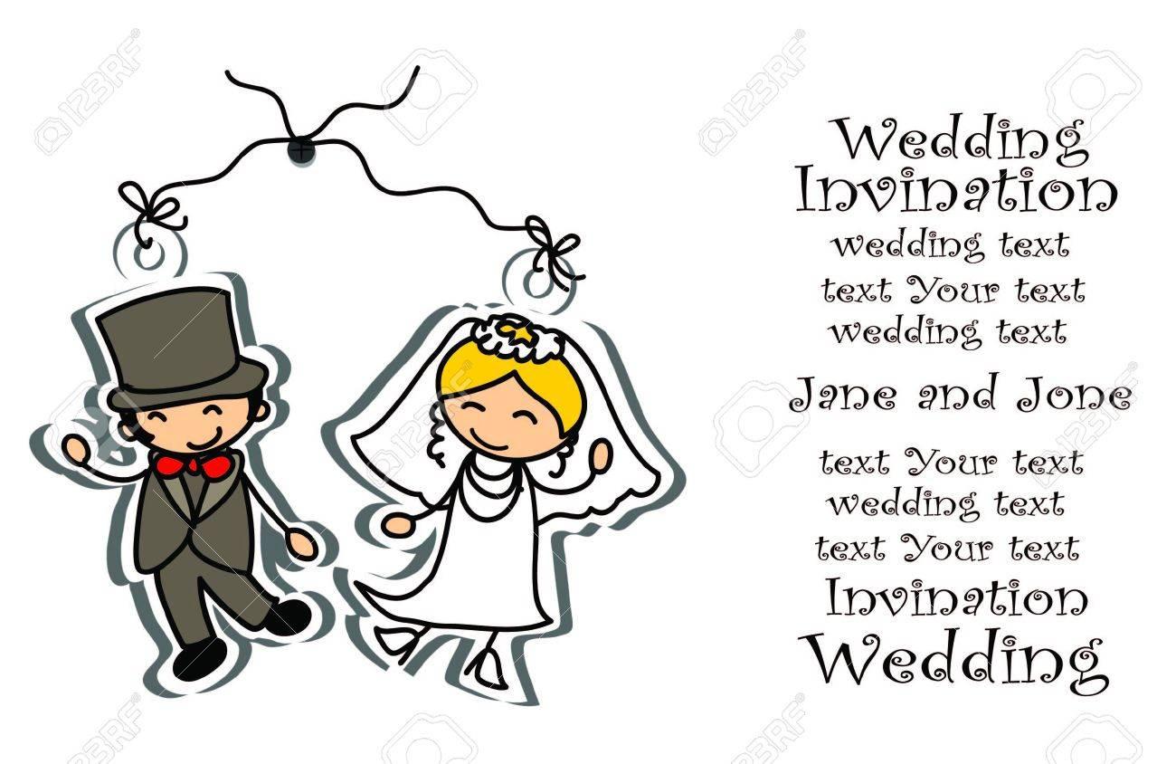 Cartoon wedding picture - 18896053