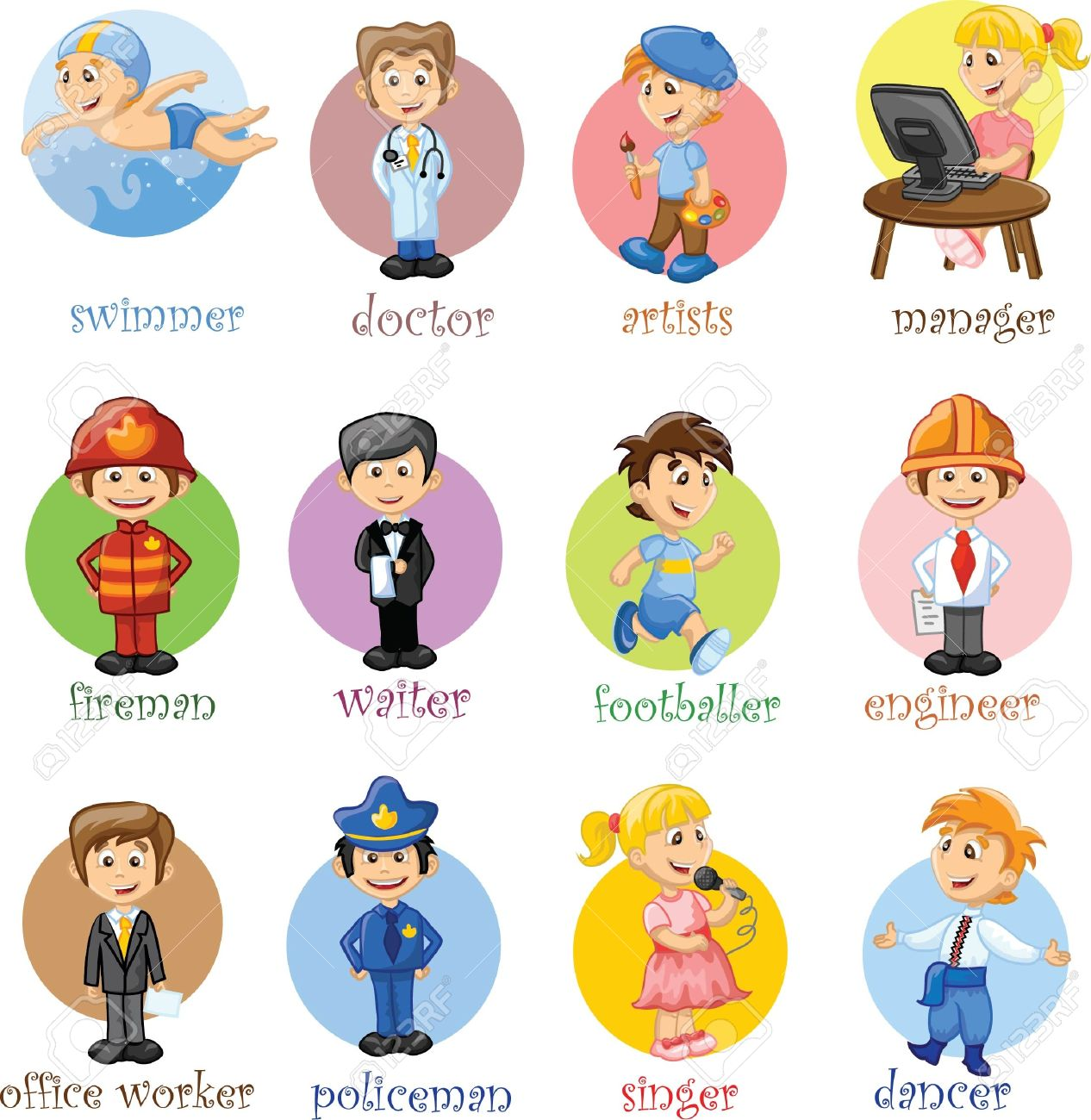 Vector illustration of people different professions Stock Vector - 19719161