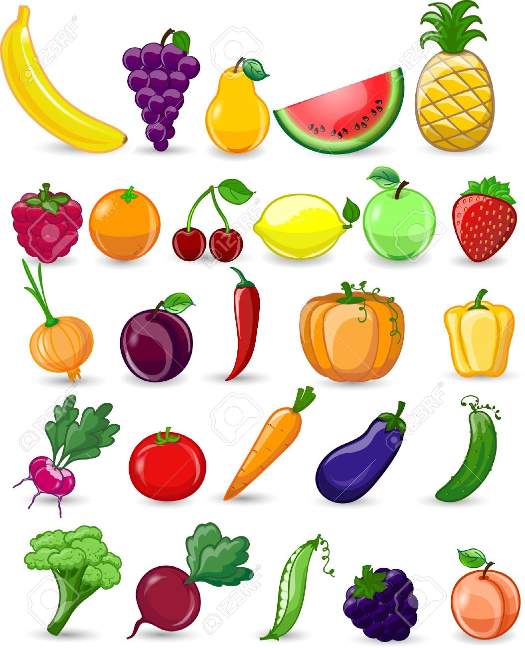 Fruit Dessin cartoon vegetables and fruits royalty free cliparts, vectors, and