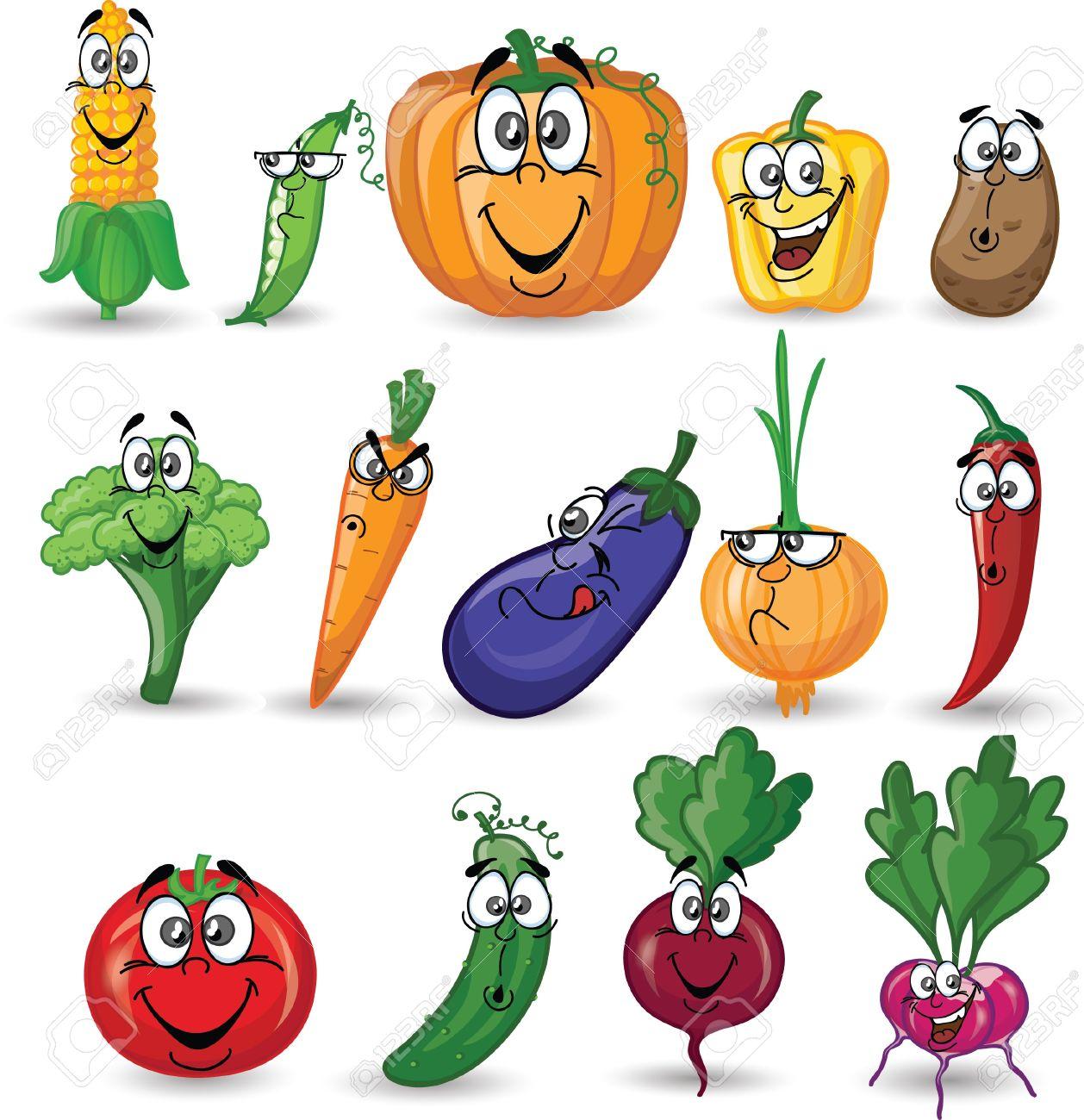 cartoon vegetable ile ilgili görsel sonucu