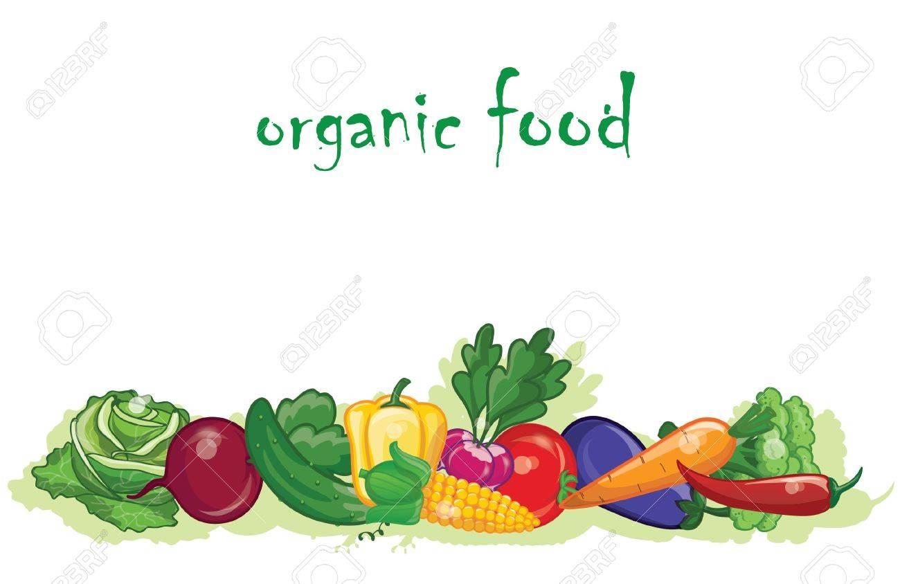 Cartoon vegetables, background - 22627996