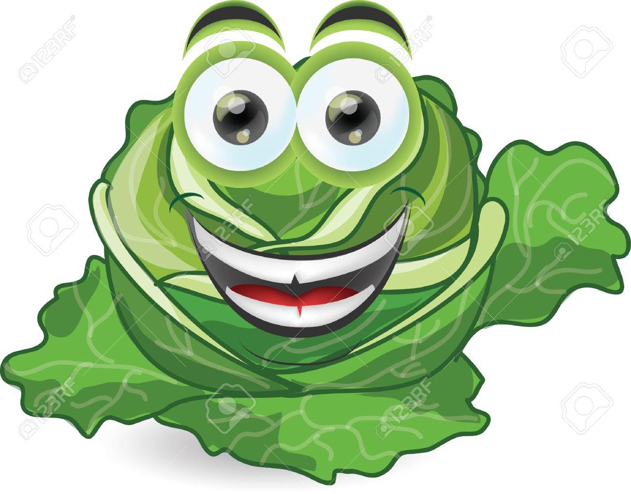Cartoon funny cabbage - 23854704