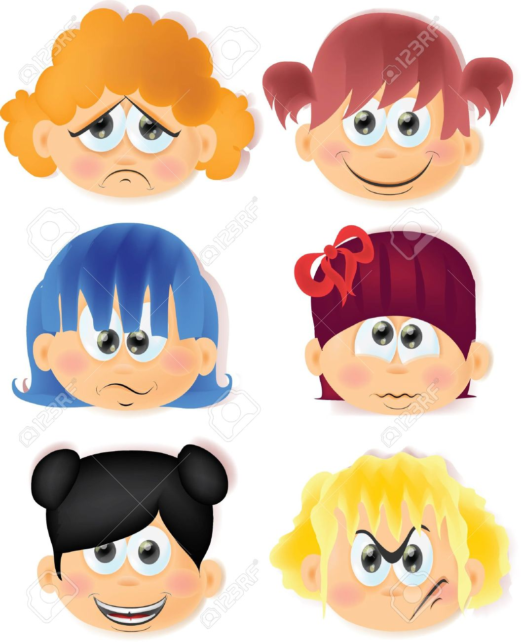 229,928 Emotion Faces Stock Vector Illustration And Royalty Free ...