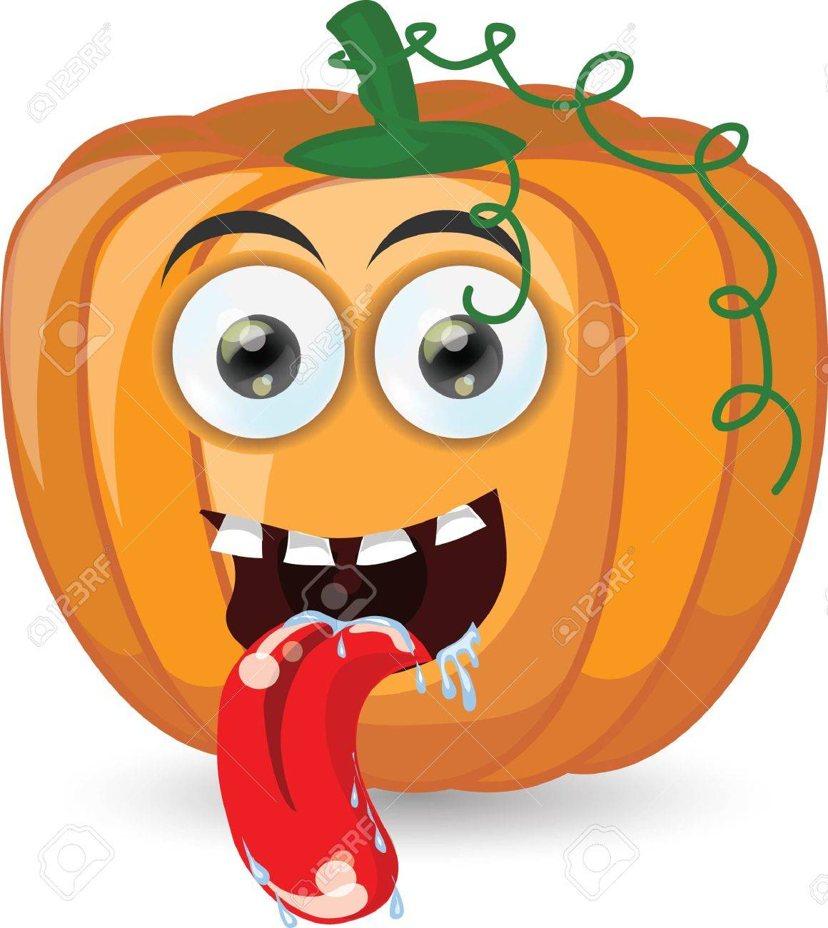 Cartoon pumpkin for halloween Stock Vector - 25040981
