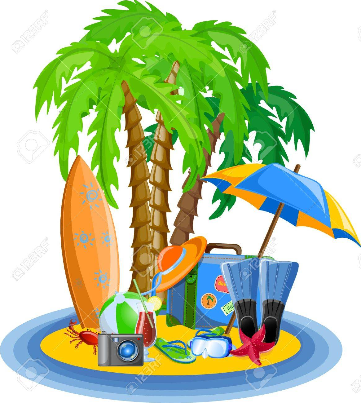 Vacation vector background Stock Vector - 26742577