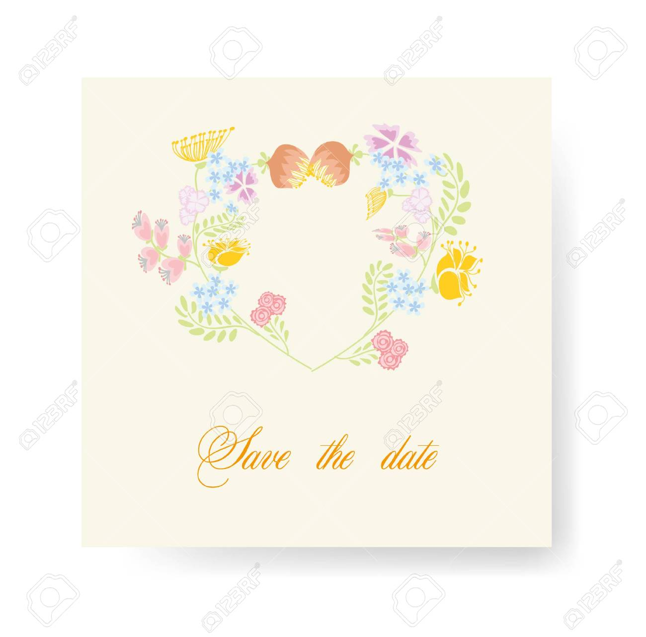 Flower Vector Banners For Wedding Invitation Royalty Free Cliparts ...