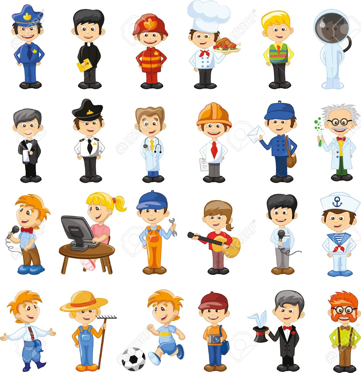 Cartoon vector characters of different professions - 44927010