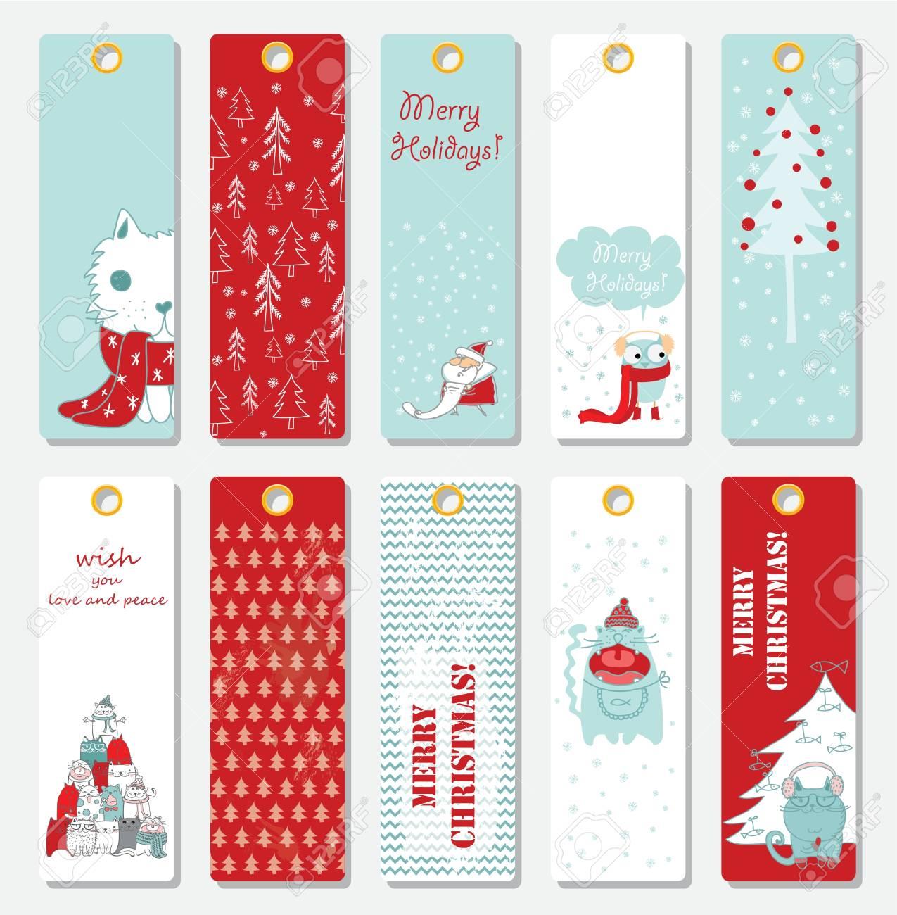 Christmas Tag Template.Collection Of 10 Christmas Tag Cards Templates
