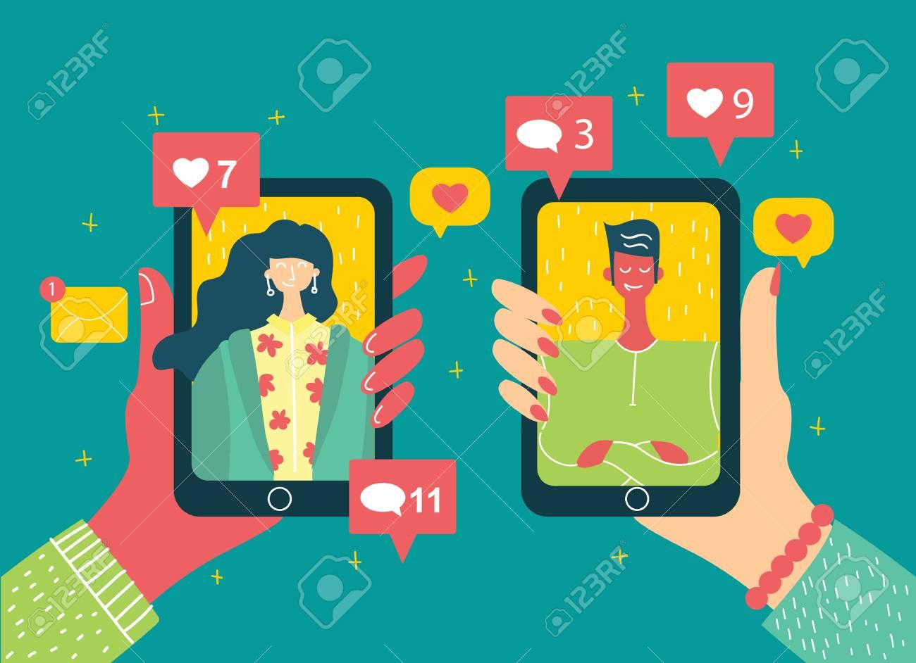vrouw verslaafd aan online dating
