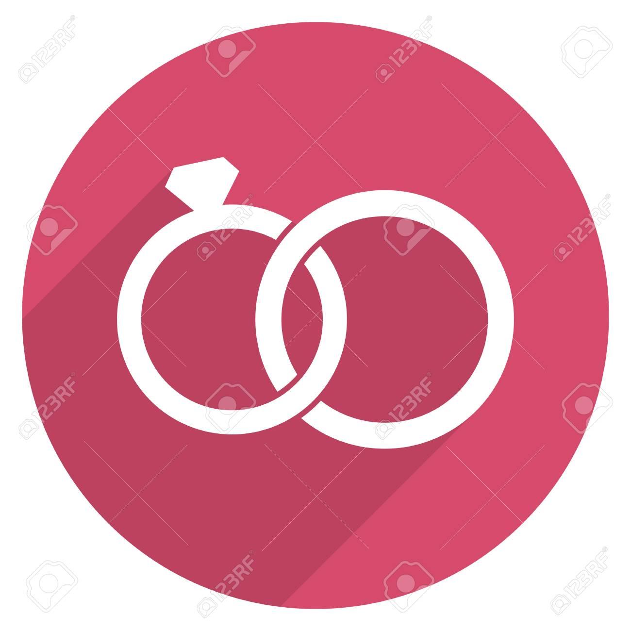 Wedding Rings Icon, Modern Minimal Flat Design Style. Jewelry ...