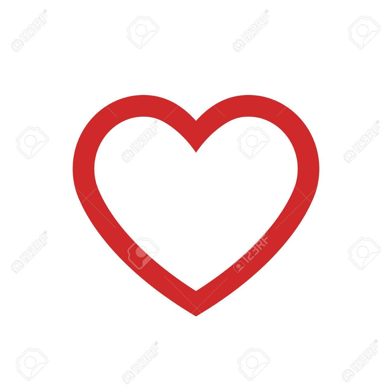 heart outline icon modern minimal flat design style love symbol rh 123rf com vector heart outline illustrator human heart vector outline