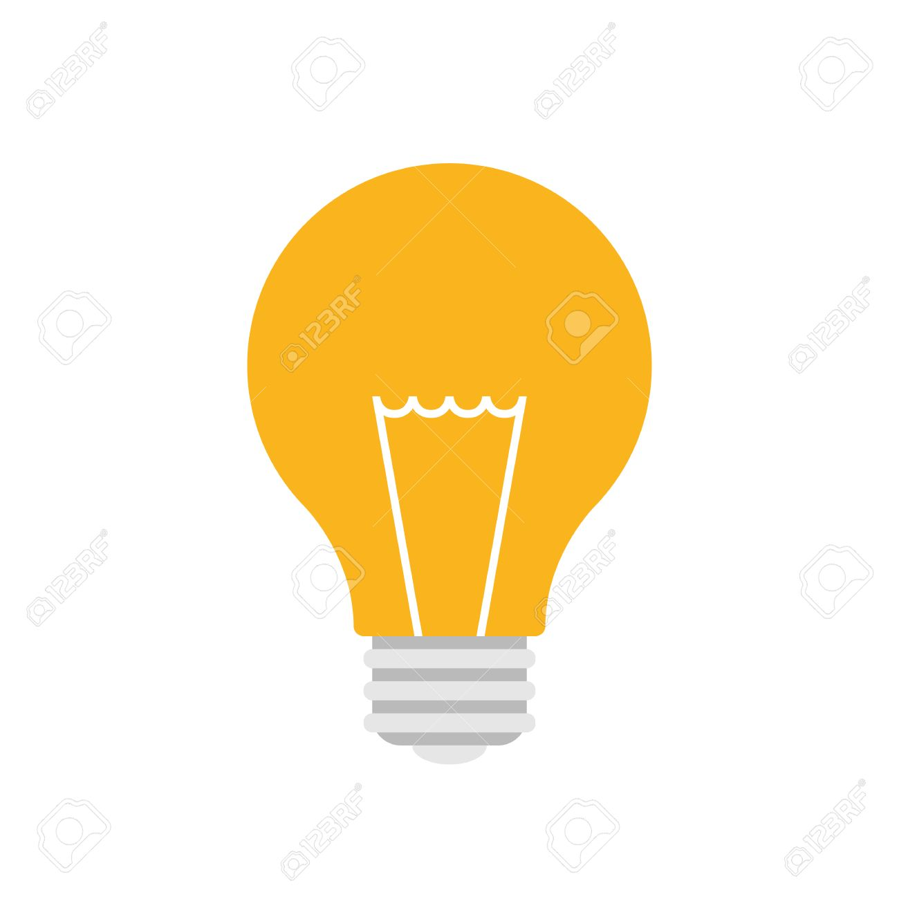 Light bulb icon, modern minimal flat design style, vector illustration - 46784335