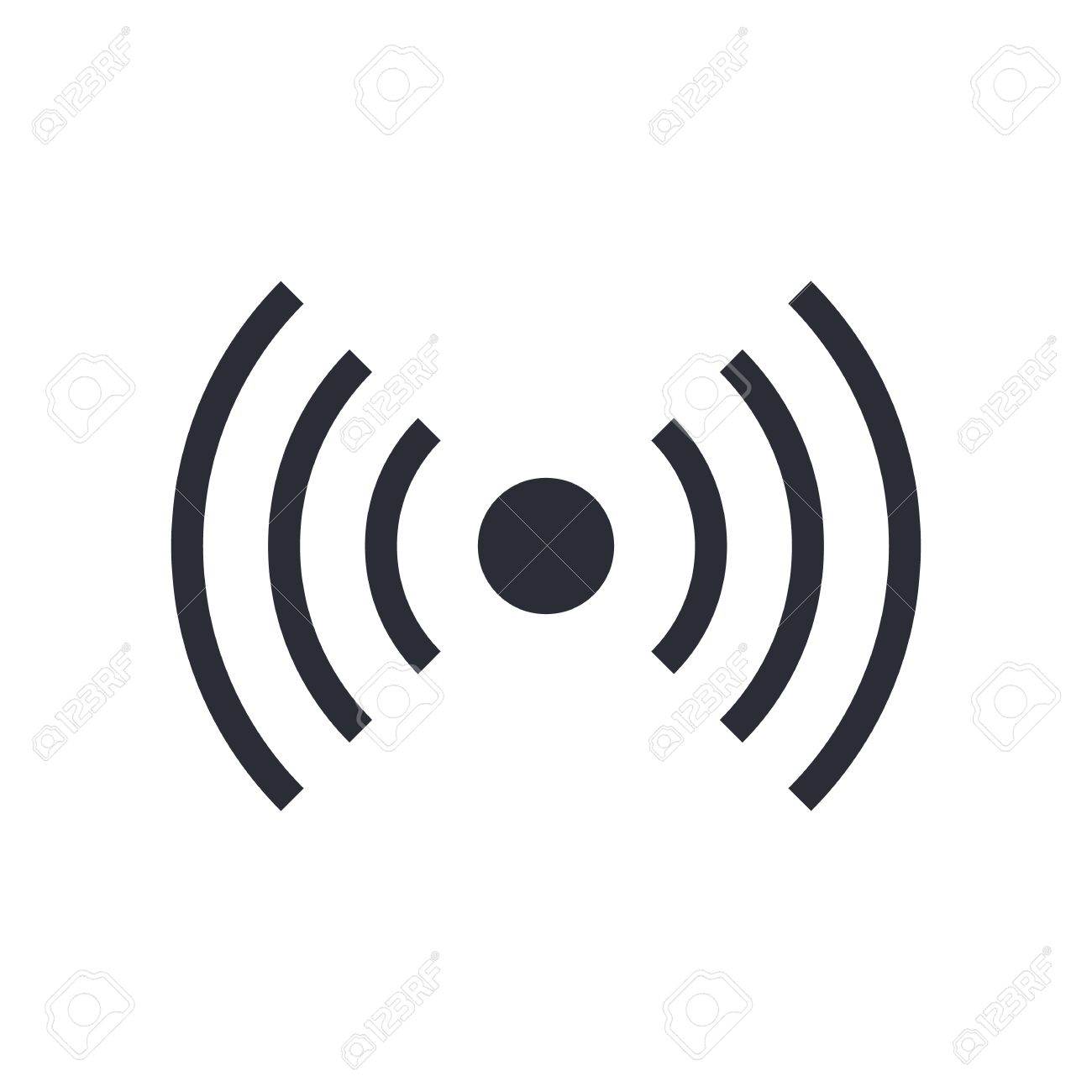 Wifi Wireless Signal Icon Radio Waves Symbol Vector Illustration