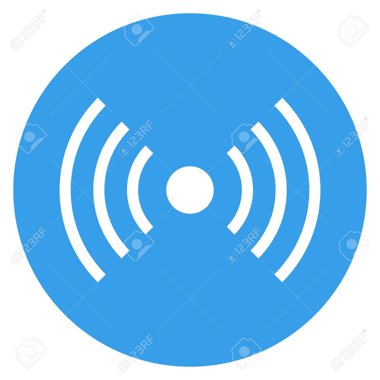 Wifi Wireless Signal Icon, Radio Waves Symbol. Vector Illustration ...