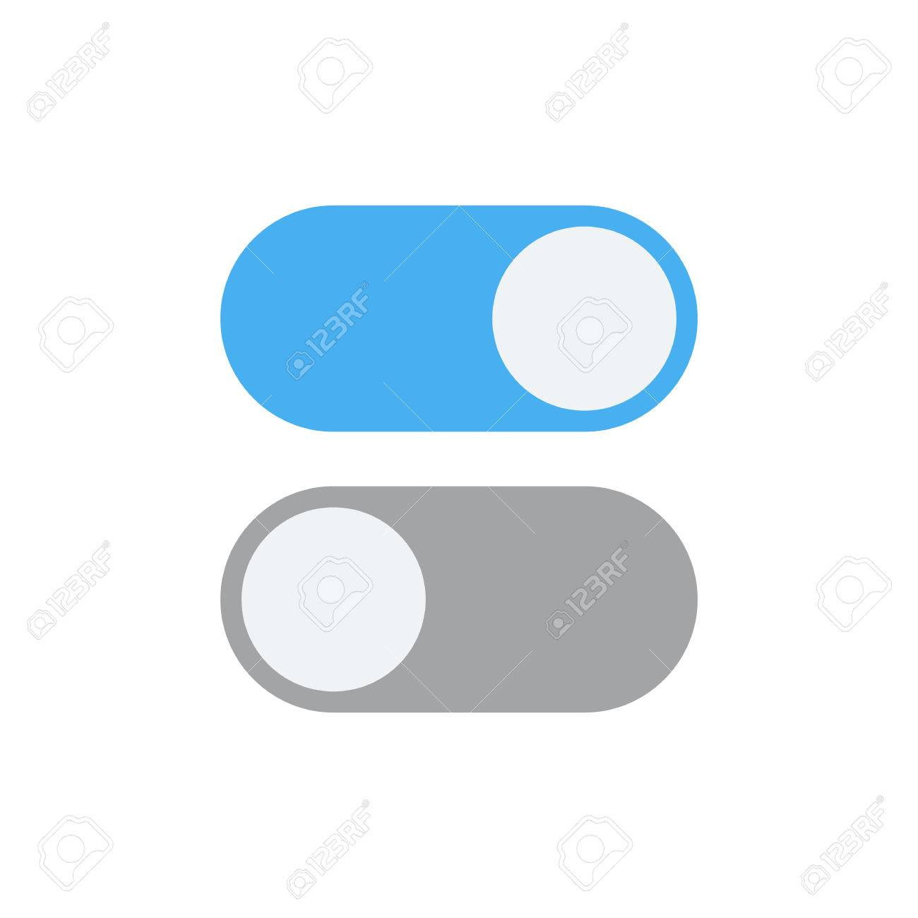 Toggle Switch Vector Icon, On And Off Position Simple Icons ...
