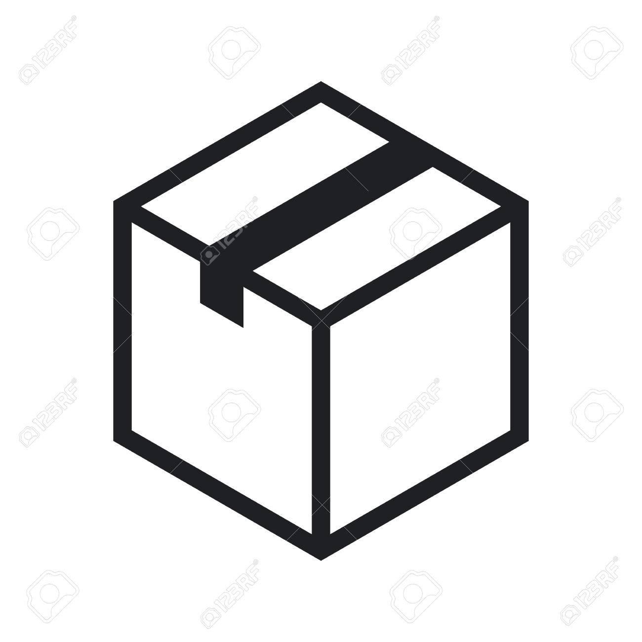 isometric cardboard box outline icon modern minimal flat design rh 123rf com box vector cranks m30-p box vector icon