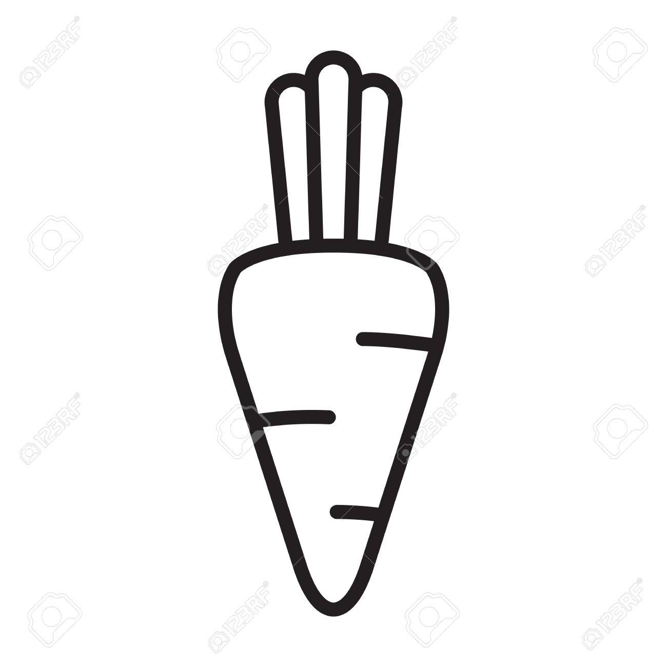 Carrot Outline Icon, Modern Minimal Flat Design Style, Vector ... for Carrot Outline  545xkb