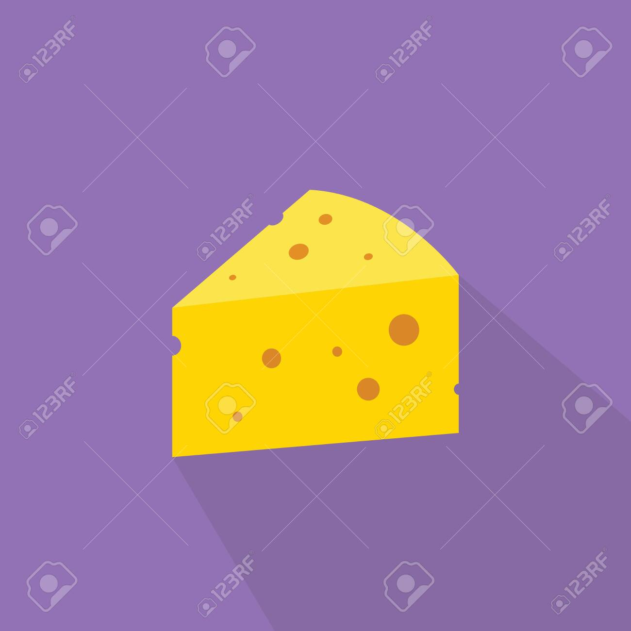 Piece of sliced cheese isolated on a white background. Clipart | k35127852  | Fotosearch