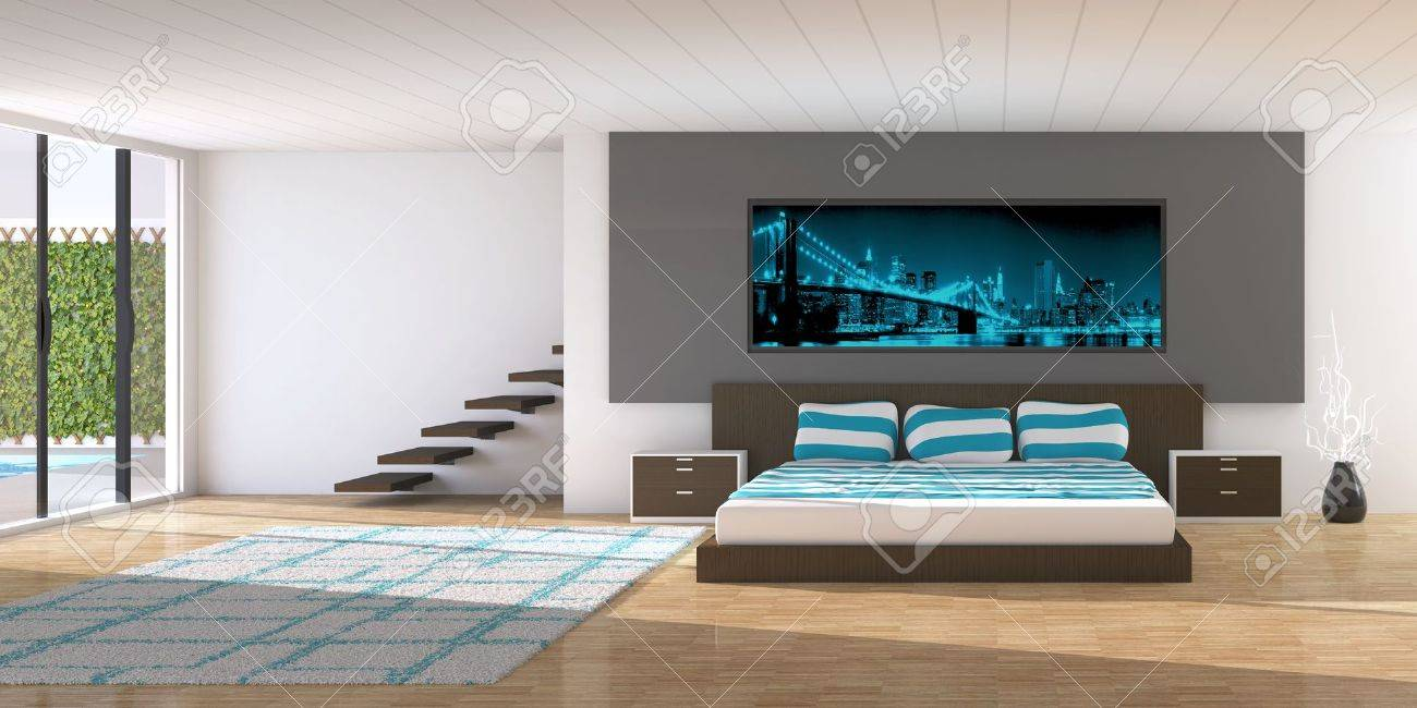 Modern interior of a bedroom Stock Photo - 14574394