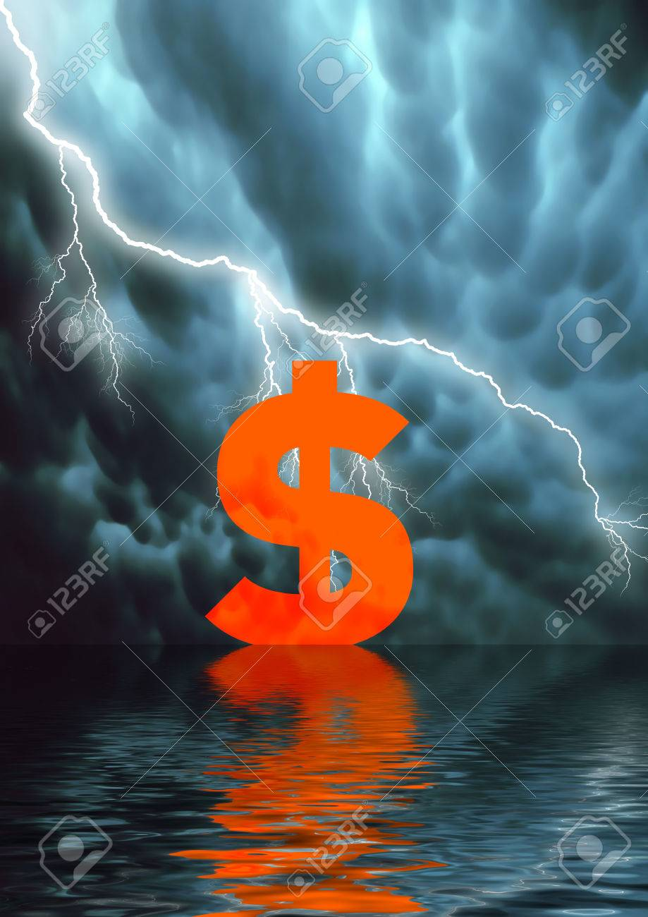 Conceptual illustration: low selling price / American Dollar fall Stock Illustration - 1505267