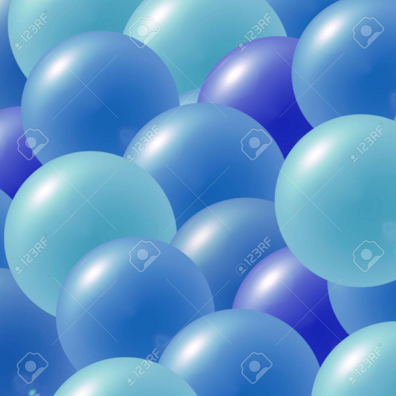 Multi colored party balloons in shades of blue Stock Photo - 2236534
