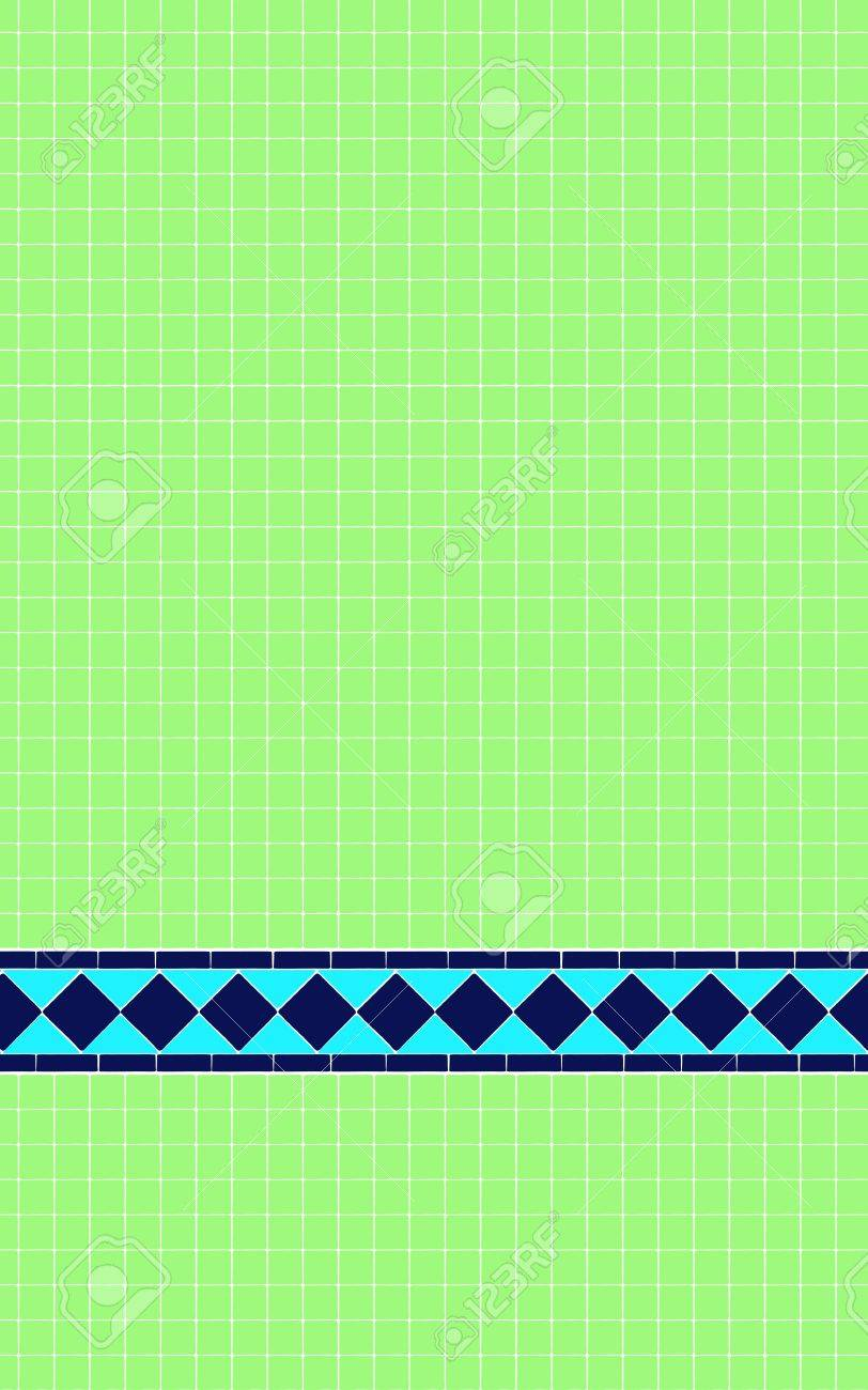 Salle De Bain Avec De Petites Mur, Les Carreaux De Mosaïque Verte Et ...