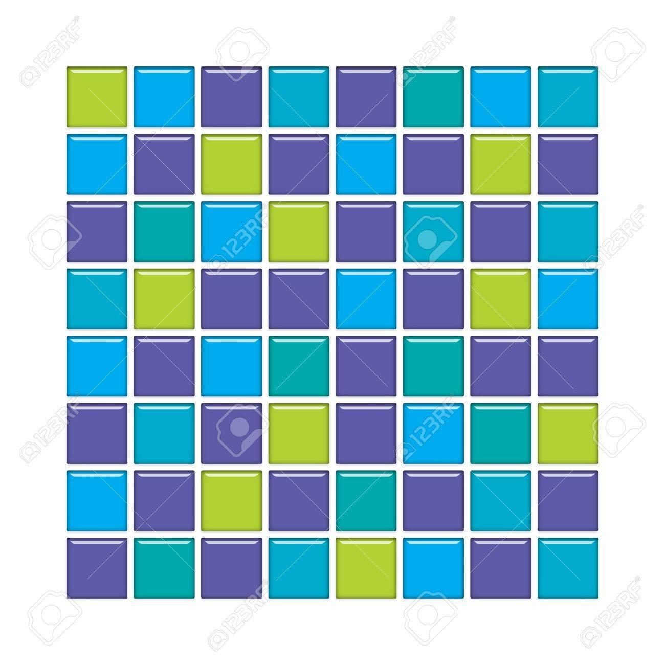 Mosaique Salle De Bain Bleu ~ salle de bains avec mur bleu violet et vert en verre mosa que