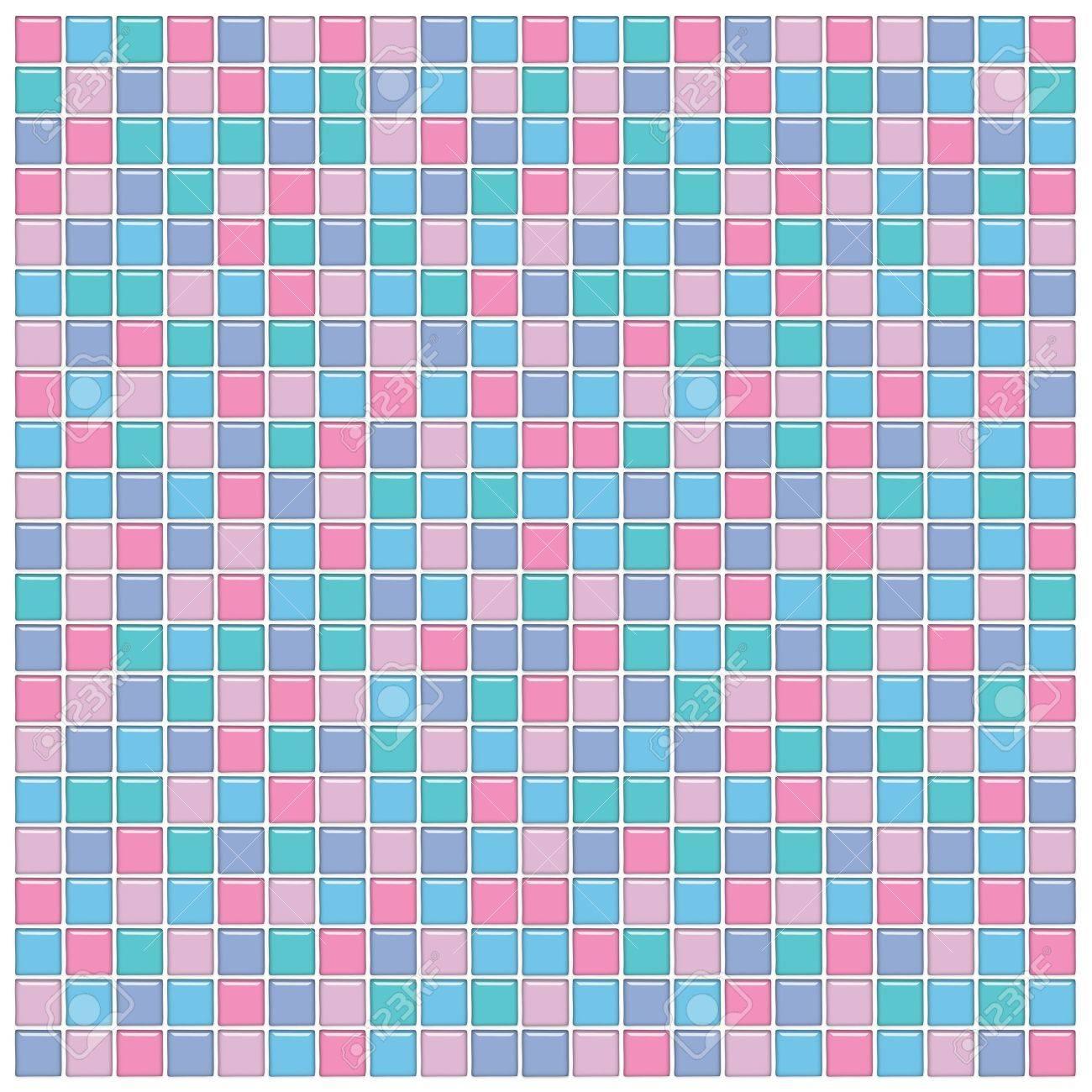 Piastrelle Bagno Mosaico Viola bagno con muro rosa, blu, verde e viola mosaico piastrelle di vetro