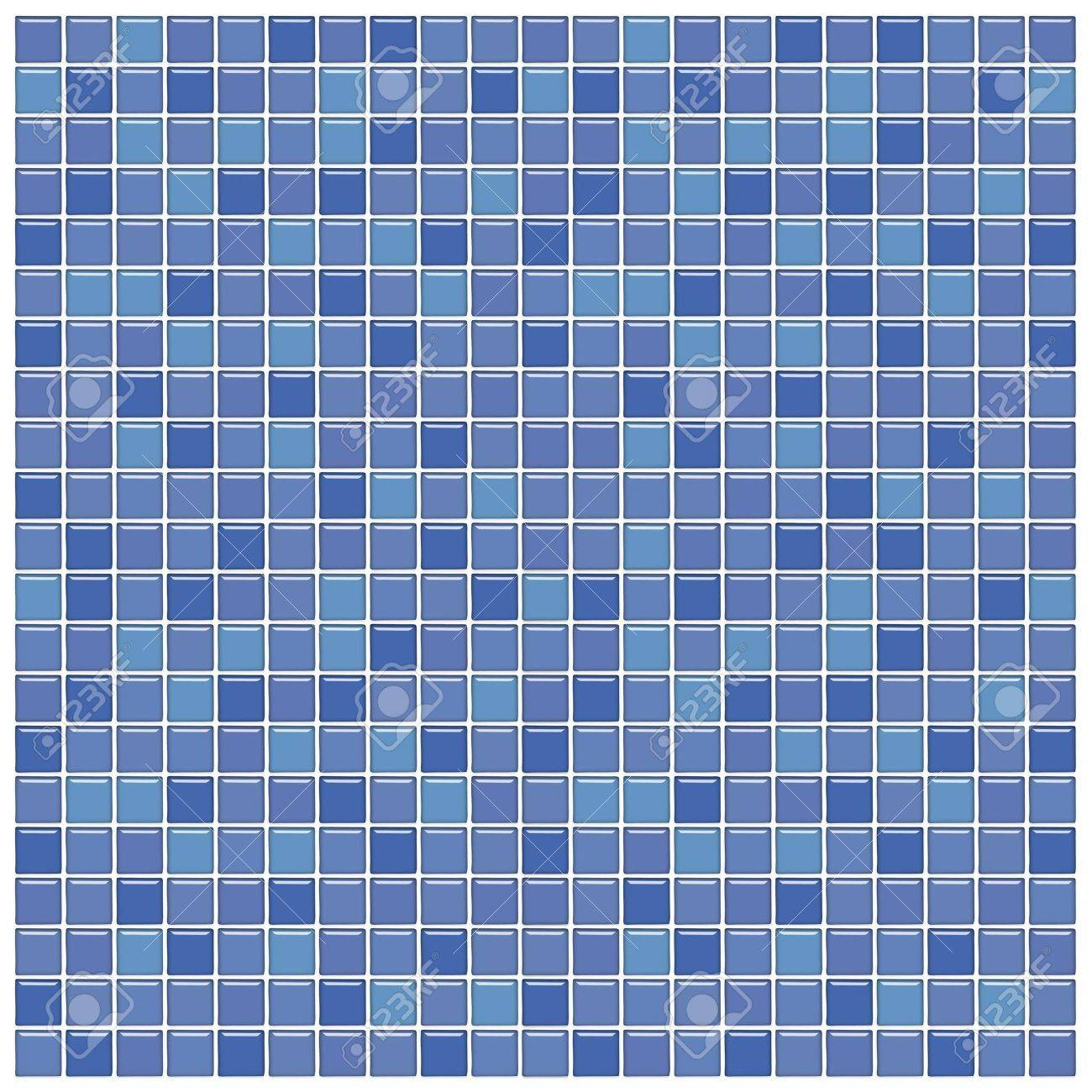 Bathroom Wall With Blue And Purple Glass Mosaic Tiles Stock Photo ...